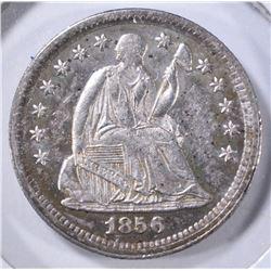1856 SEATED LIBERTY HALF DIME XF
