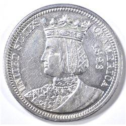 1893 ISSABELLA COMMEMORATVE QUARTER BU