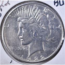 1922-S PEACE DOLLAR, BU