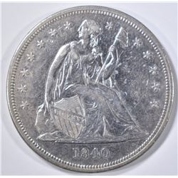 1840 SEATED LIBERTY DOLLAR   BU  OLD CLEANING