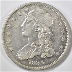 1834 BUST QUARTER  AU