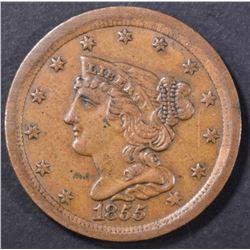 1855 HALF CENT  CH AU