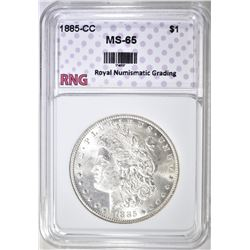 1885-CC MORGAN DOLLAR RNG GEM BU