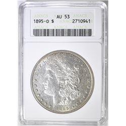 1895-O MORGAN DOLLAR ANACS AU