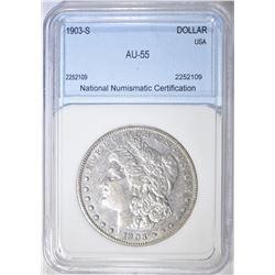 1903-S MORGAN DOLLAR NNC AU BU
