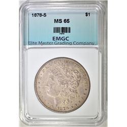 1878-S MORGAN DOLLAR EMGC GEM BU