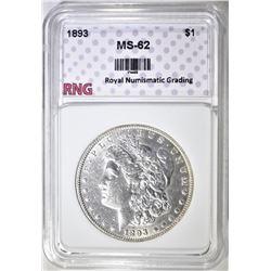 1893 MORGAN DOLLAR RNG BU