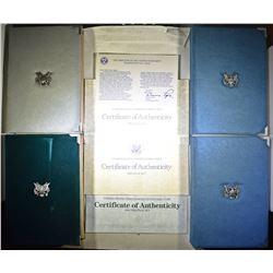 1986, 2-87 & 1-90 U.S. PRESTIGE PROOF SETS