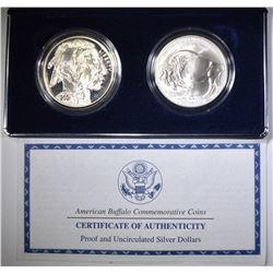 2001 PF & UNC AMERICAN BUFFALO COMMEM  DOLLARS