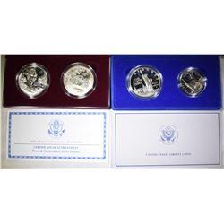 U.S MINT COMMEM 2-COIN SETS