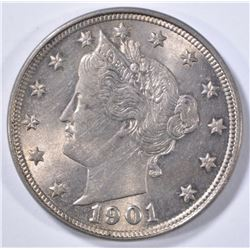 1901 LIBERTY NICKEL  CH BU
