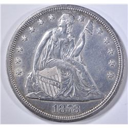 1873  SEATED LIBERTY DOLLAR  CH BU