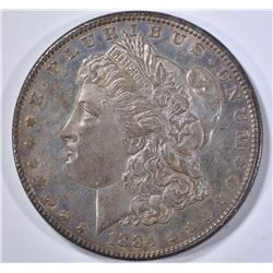 1884 MORGAN DOLLAR   GEM UNC DMPL