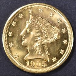 1905 $2.5 GOLD LIBERTY  GEM BU