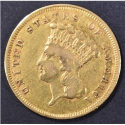 1857-S $3 GOLD INDIAN PRINCESS  XF