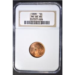 1899 INDIAN CENT  NGC MS-66 RD