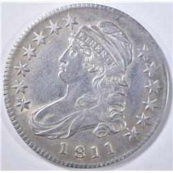 1811 BUST HALF DOLLAR   XF/AU