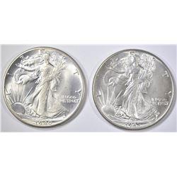 1940 & 45 WALKING LIBERTY HALVES  CH BU