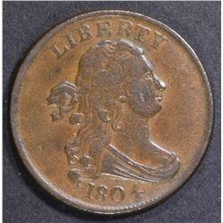 1804 HALF CENT  XF/AU