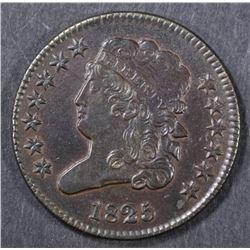 1825 HALF CENT  BU BN