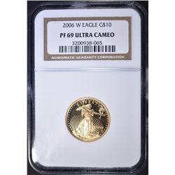 2006-W $10 GOLD EAGLE, NGC PF-69 ULTRA CAMEO