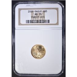 2000 $5 AMERICAN GOLD EAGLE, NGC MS-70!