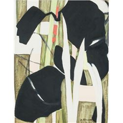 Lee Krasner American Abstract Oil on Canvas