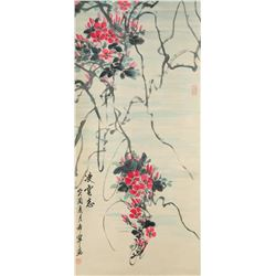 Yu Xining 1913-2007 Chinese Watercolor Orchid