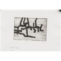 Eduardo Chillida Spanish Signed Linocut Paper 3/50