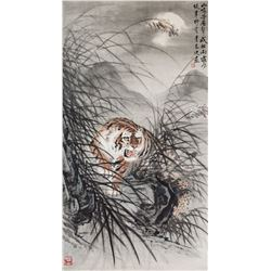 Li Xianjin XX Chinese Watercolor Scroll