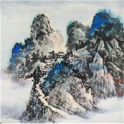 Zhang Daqian 1899-1983 Chinese Ink WC Mountains