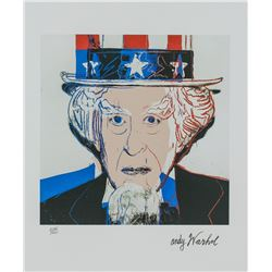 Andy Warhol US Signed Litho Uncle Sam 3962/5000
