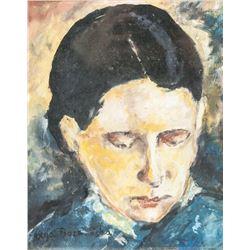 Olga Boznanska Polish O/C MICHAUX & GUERIN Gallery
