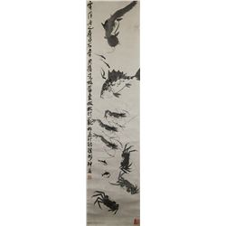Qi Baishi 1864-1957 Chinese Shrimp Ink on Paper