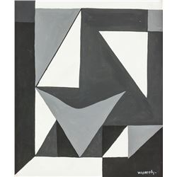 Victor Vasarely French-Hungarian Op Art O/C