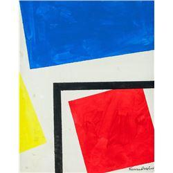 Theo Van Doesburg Dutch De Stijl Oil on Canvas