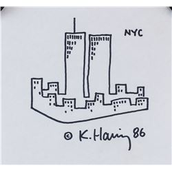 Keith Haring American Pop Signed Marker on Paper