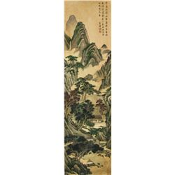 Tang Di 1296-1964 Chinese Lithograph on Silk Roll