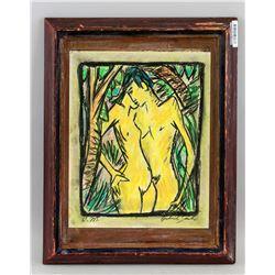 Otto Mueller German Expressionist Pastel on Paper
