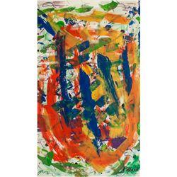 Jackson Pollock American Abstract Acrylic on Paper