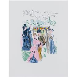 """Raoul Dufy """"Homage to Renoir"""" French Signed Litho"""