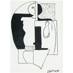 Willi Baumeister German Abstract Oil on Canvas