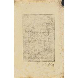 Paul Klee Swiss Modernist Signed Linocut on Paper