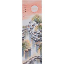 Jin Meisheng 1902-1989 Chinese Watercolor Scroll