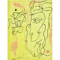Andre Masson French Abstract Oil on Canvas