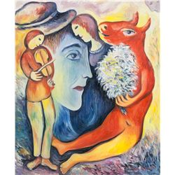 Marc Chagall Russian-French Surrealist Oil/Canvas