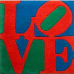 Robert Indiana American Pop Love Wool Rug 2007