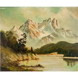 Rudolf Grossmüller Oil on Canvas/Board Landscape