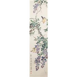 Wang Xuetao 1903-1982 Chinese Watercolor Scroll