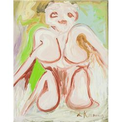 Willem de Kooning American Oil on Canvas Nude